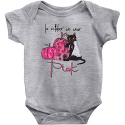 breast cancer  in october we wear pink Baby Bodysuit | Artistshot