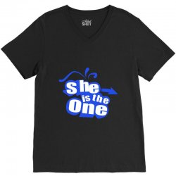 she is the one V-Neck Tee | Artistshot