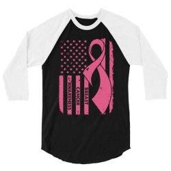 breast cancer awareness flag 3/4 Sleeve Shirt | Artistshot
