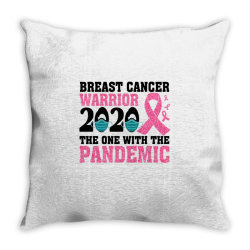 breast cancer blink breast cancer warrior 2020 the one with the pandem Throw Pillow | Artistshot