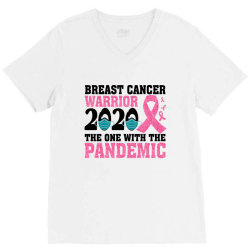 breast cancer blink breast cancer warrior 2020 the one with the pandem V-Neck Tee | Artistshot