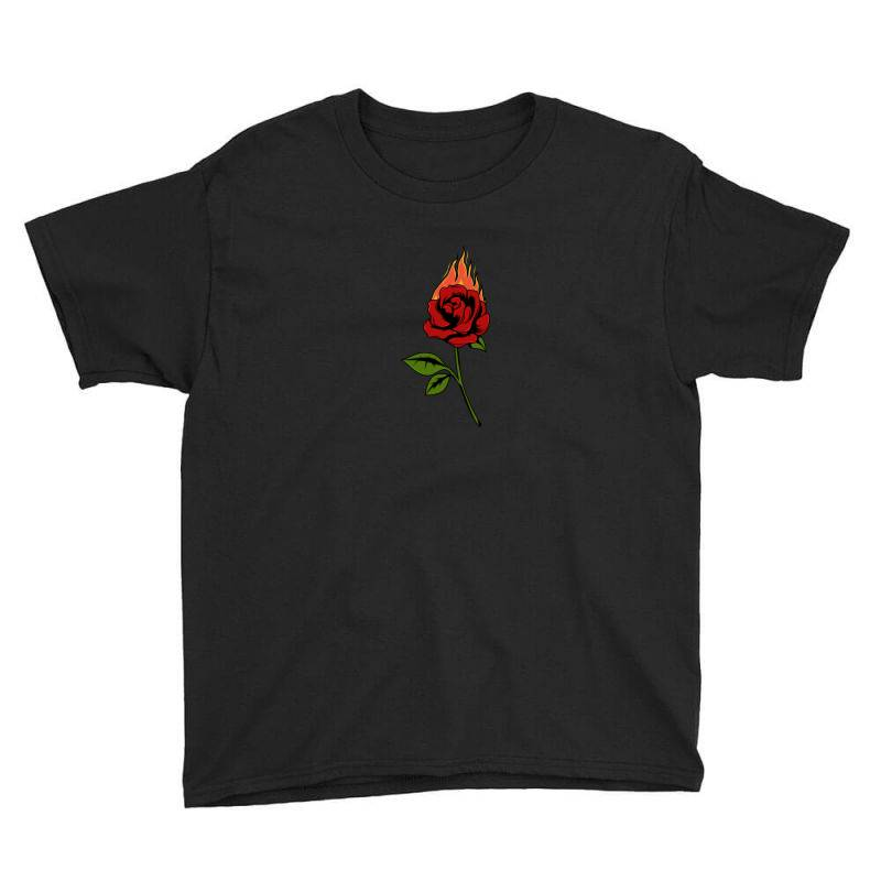 Fire Rose Youth Tee | Artistshot