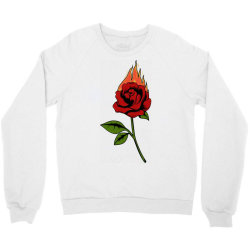 Fire Rose Crewneck Sweatshirt | Artistshot