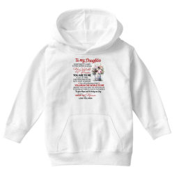to my daughter sometimes it's hard to find words to tell you how valua Youth Hoodie | Artistshot