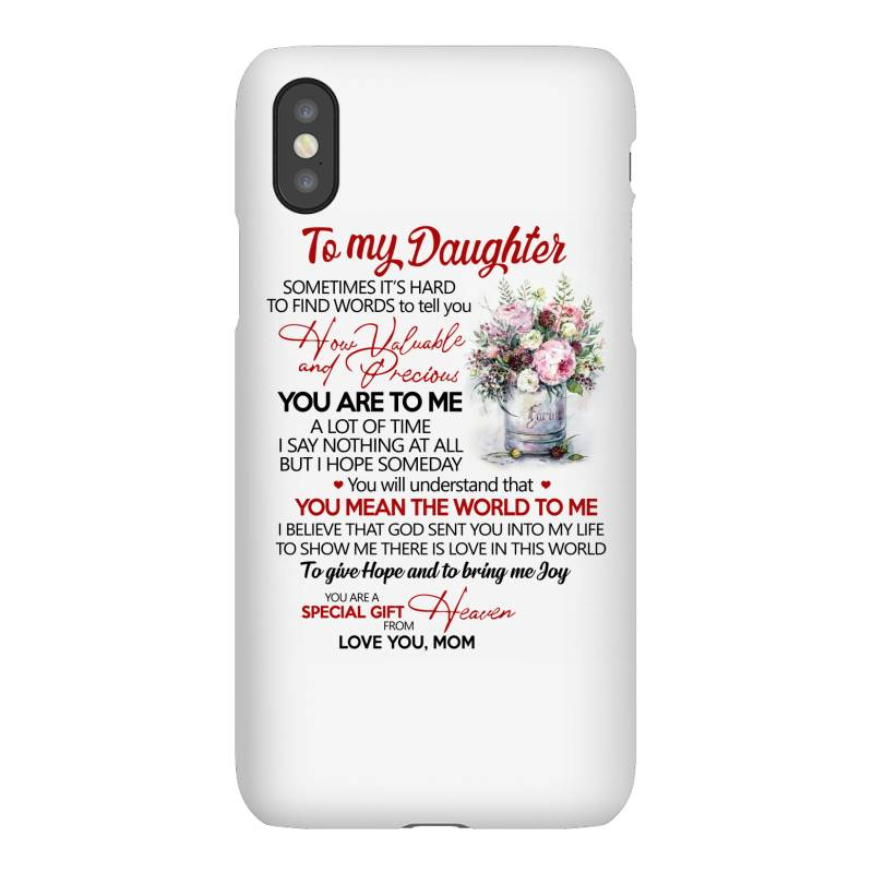 To My Daughter Sometimes It's Hard To Find Words To Tell You How Valua Iphonex Case | Artistshot