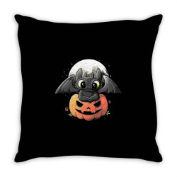 baby dragon pumpkin Throw Pillow | Artistshot