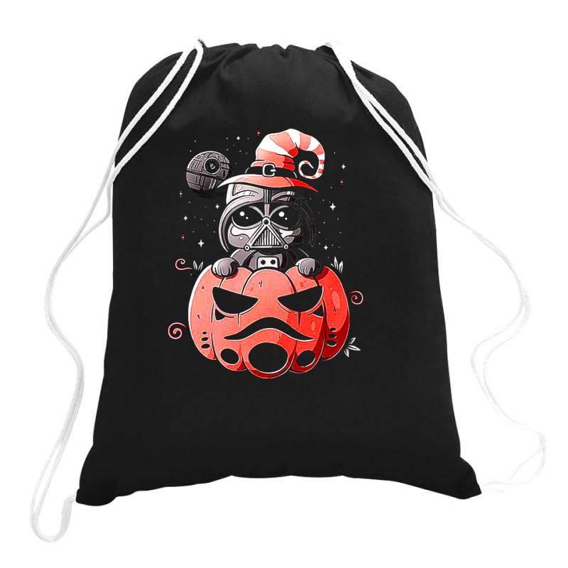 Baby Darth Vader Pumpkin Drawstring Bags | Artistshot