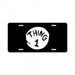 thing 1 License Plate | Artistshot