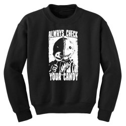 always check your candy Youth Sweatshirt | Artistshot