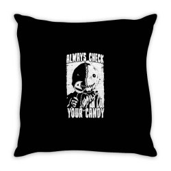 always check your candy Throw Pillow | Artistshot