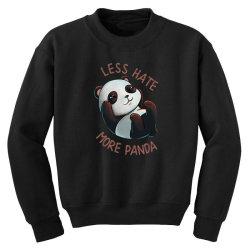 less hate Youth Sweatshirt   Artistshot