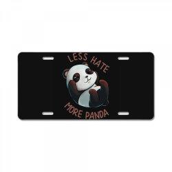 less hate License Plate | Artistshot