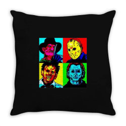 horror squad Throw Pillow | Artistshot