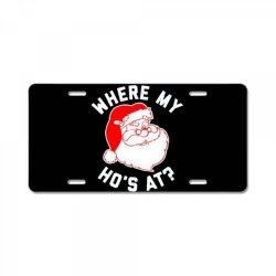 ho ho ho christmas License Plate | Artistshot
