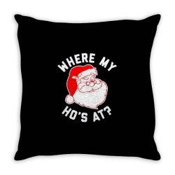 ho ho ho christmas Throw Pillow | Artistshot