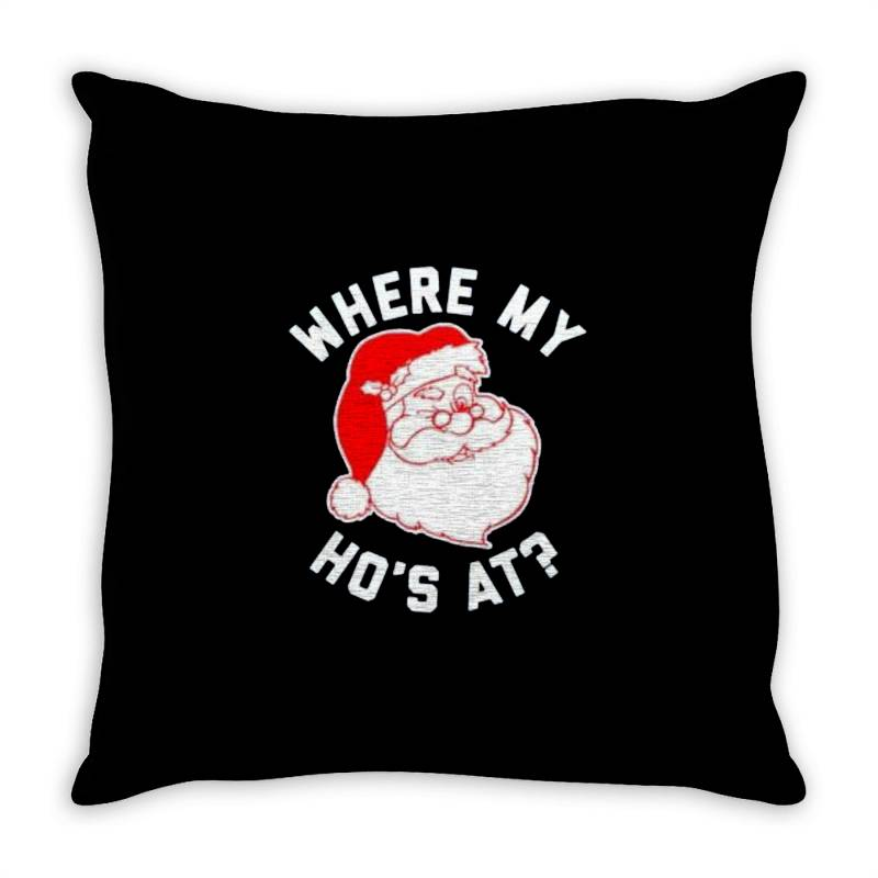 Ho Ho Ho Christmas Throw Pillow   Artistshot