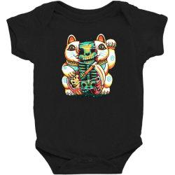 lucky cat skull Baby Bodysuit   Artistshot