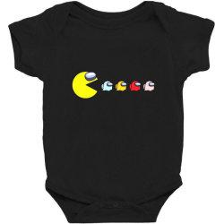 eat the ghost saboteurs among us Baby Bodysuit | Artistshot
