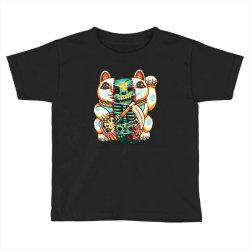 lucky cat skull Toddler T-shirt   Artistshot