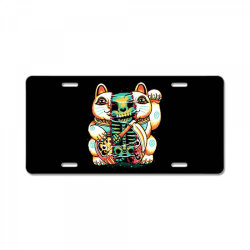 lucky cat skull License Plate | Artistshot