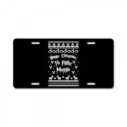 happy christmas ya filthy muggle License Plate | Artistshot