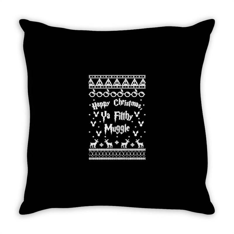 Happy Christmas Ya Filthy Muggle Throw Pillow   Artistshot