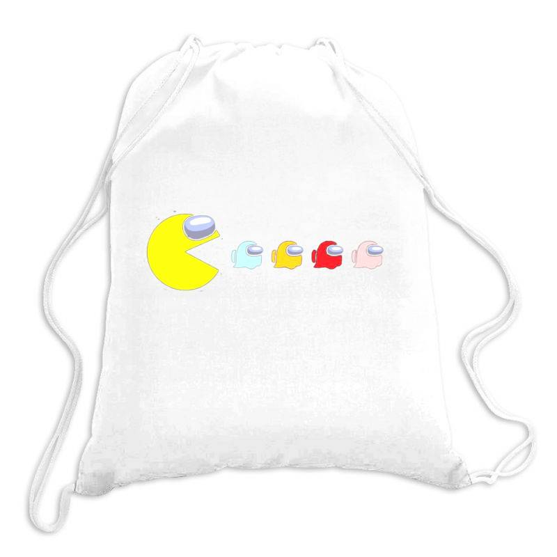 Eat The Ghost Saboteurs Among Us Drawstring Bags   Artistshot