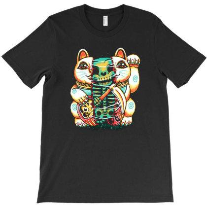 Lucky Cat Skull T-shirt Designed By Kamal Mardhiyah