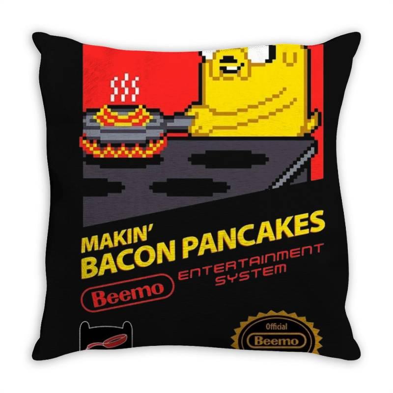 Super Bacon Pancakes Throw Pillow   Artistshot