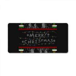 stranger christmas License Plate   Artistshot