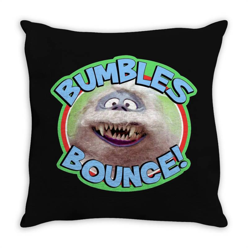 Rudolph The Red Nose Reindeer 'bumbles Bounce Throw Pillow | Artistshot