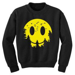 Smiley moon Youth Sweatshirt | Artistshot
