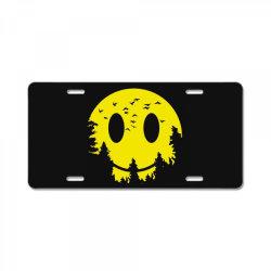Smiley moon License Plate | Artistshot