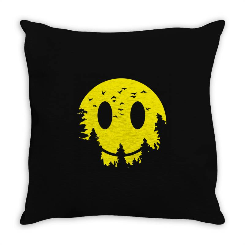 Smiley Moon Throw Pillow   Artistshot