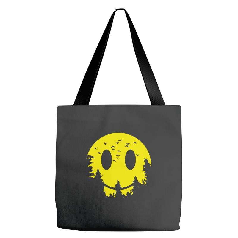 Smiley Moon Tote Bags | Artistshot