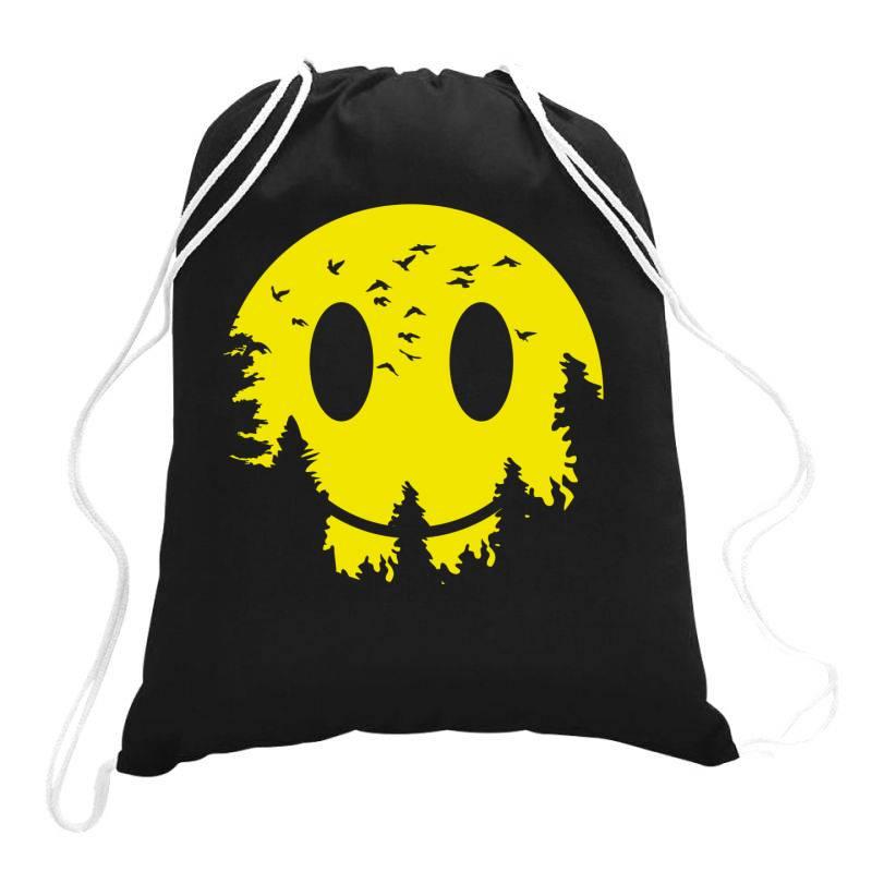 Smiley Moon Drawstring Bags | Artistshot
