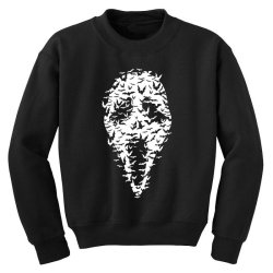 Ghost Face Bats Youth Sweatshirt   Artistshot