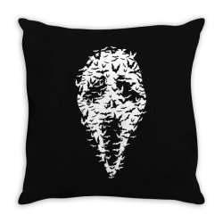 Ghost Face Bats Throw Pillow | Artistshot
