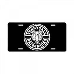 sunnydale razorbacks License Plate | Artistshot