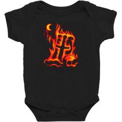 fiery eclipse skull cross Baby Bodysuit | Artistshot