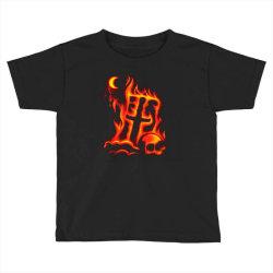 fiery eclipse skull cross Toddler T-shirt | Artistshot