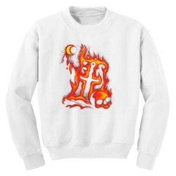 fiery eclipse skull cross Youth Sweatshirt | Artistshot