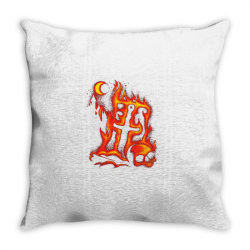 fiery eclipse skull cross Throw Pillow | Artistshot