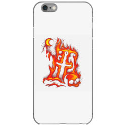 fiery eclipse skull cross iPhone 6/6s Case | Artistshot