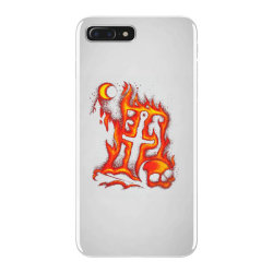 fiery eclipse skull cross iPhone 7 Plus Case | Artistshot