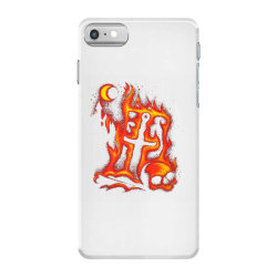 fiery eclipse skull cross iPhone 7 Case | Artistshot