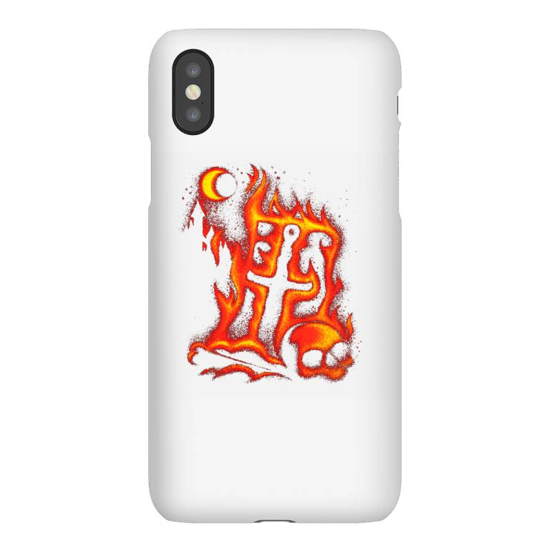 Fiery Eclipse Skull Cross Iphonex Case | Artistshot