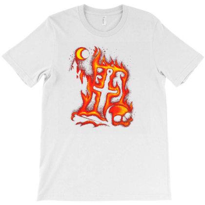 Fiery Eclipse Skull Cross T-shirt Designed By Ifa Uyainah