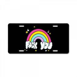 rainbow fuck you License Plate | Artistshot