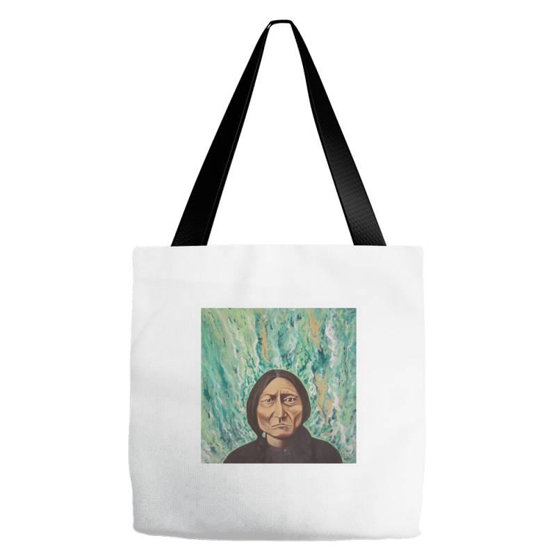 Sitting Bull Tote Bags | Artistshot